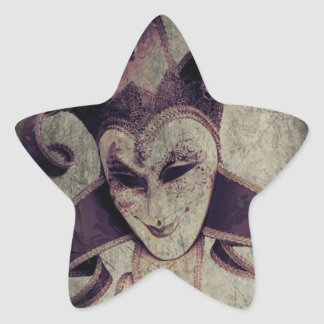 Gothic Renaissance Evil Clown Joker Star Sticker