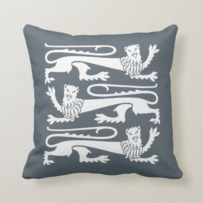 Gothic revival Pugin Mad happy lions CC0961 Throw Pillow