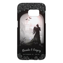 Gothic Romance Black Roses Wedding Names Case