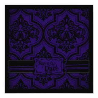 """Gothic Romance SD Square 5.25"""" Square Invitation Card"""