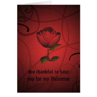 Gothic romance valentine's day card