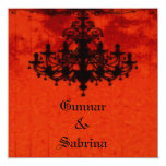 Gothic Romance Victorian Chandelier Wedding Personalized Invites