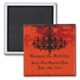 Gothic Romance Victorian Chandelier Wedding Refrigerator Magnet