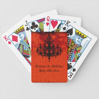 Gothic Romance Victorian Chandelier Wedding Bicycle Card Deck