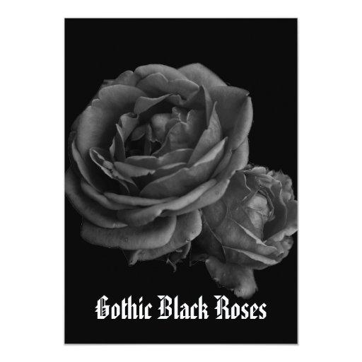 Gothic Romantic Black Roses Card
