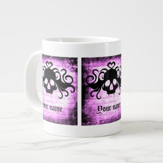 Gothic romantic fanged skull large coffee mug