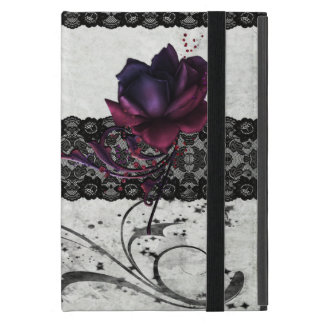 Gothic Rose and Black Lace Case For iPad Mini