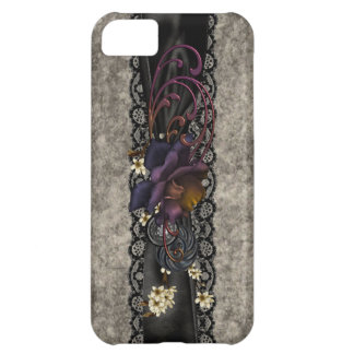 Gothic Rose and Black Lace Cover For iPhone 5C