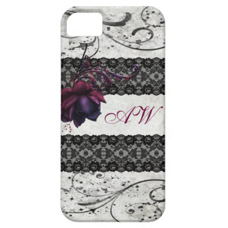 Gothic Rose and Black Lace iPhone SE/5/5s Case