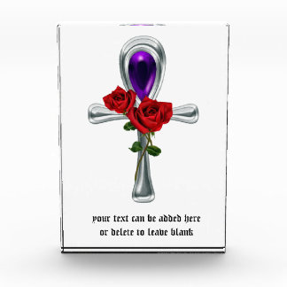 Gothic Rose Anhk Vampire Acrylic Award