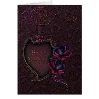 Gothic Rose Birthday Card