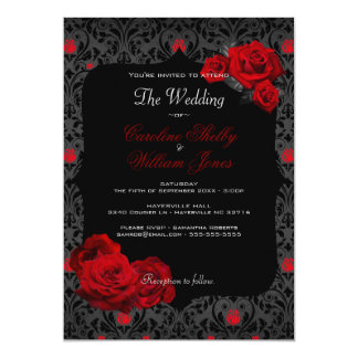 Superior Gothic Rose Black And Red Wedding Invitation Nice Ideas
