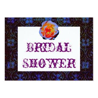 Gothic Rose Damask Bridal Shower Card
