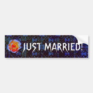 Gothic Rose Damask Wedding Car Bumper Sticker
