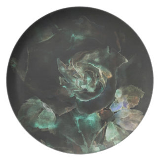 Gothic rose dinner plate