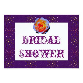 Gothic Rose Dotty Bridal Shower Card
