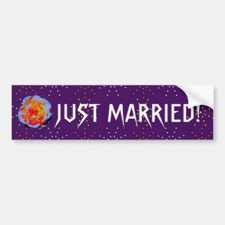 Gothic Rose Dotty  Wedding bumpersticker Bumper Sticker
