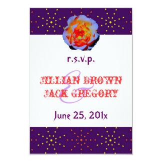 Gothic Rose Dotty Wedding RSVP Card