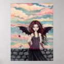 Gothic Rose Fantasy Vampire Fairy Poster print