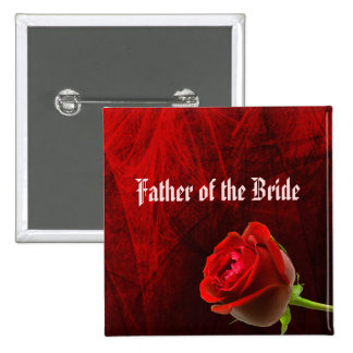 Gothic Rose Father of the Bride Button