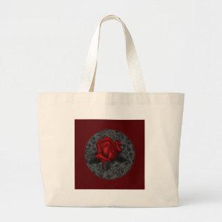 Gothic Rose Large Tote Bag