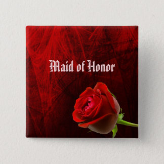 Gothic Rose Maid of Honor Button