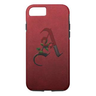 Gothic Rose Monogram A iPhone 7 Case