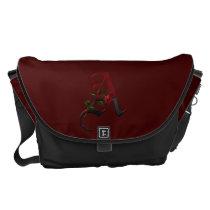 Gothic Rose Monogram A Messenger Bag