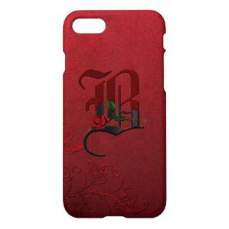 Gothic Rose Monogram B iPhone 7 Case
