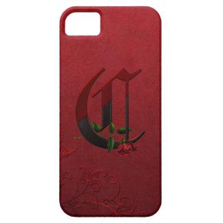 Gothic Rose Monogram C iPhone SE/5/5s Case