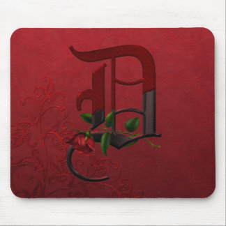 Gothic Rose Monogram D Mouse Pad