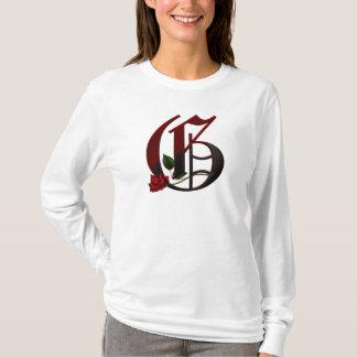 Gothic Rose Monogram G T-Shirt