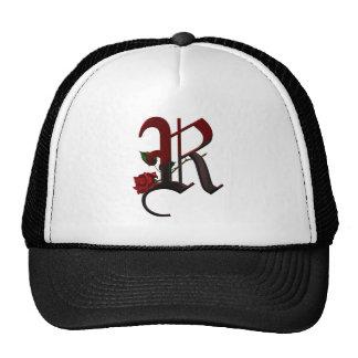Gothic Rose Monogram R Hats
