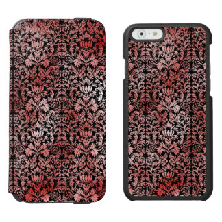 Gothic Rose Red Black Damask iPhone 6/6s Wallet Case