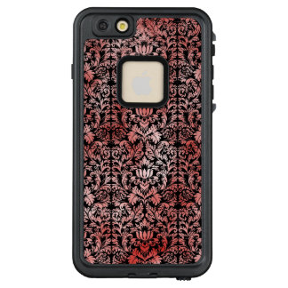 Gothic Rose Red Black Damask LifeProof FRĒ iPhone 6/6s Plus Case