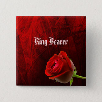 Gothic Rose Ring Bearer Button