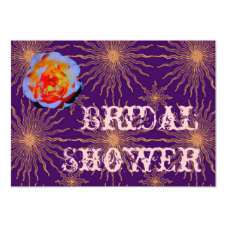 Gothic Rose Sunstar Bridal Shower Card
