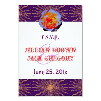 Gothic Rose Sunstar Wedding RSVP Card