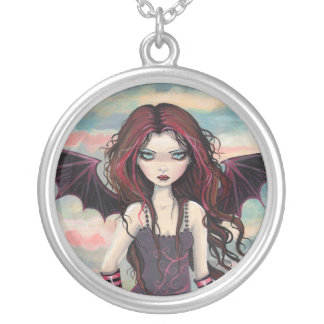 Gothic Rose Vampire Fairy Necklace