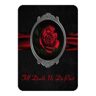 Gothic Rose Wedding Invitation