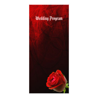 Gothic Rose Wedding Program Card Rack Card