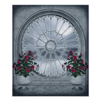 Gothic Rosette Window Poster