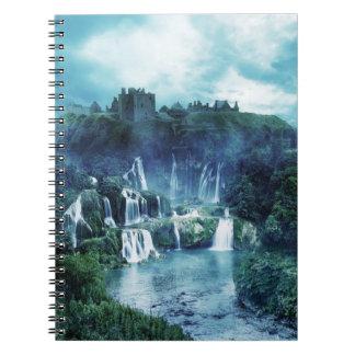 Gothic Ruin Waterfall Notebook