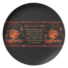 Gothic Sagittarius zodiac astrology by Valxart.com Dinner Plate