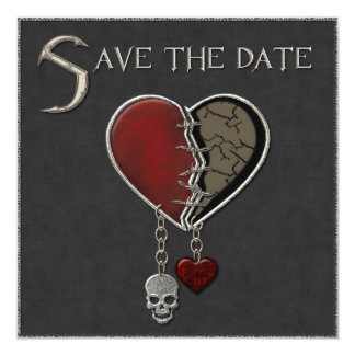Gothic Save the Date Announcement - Invitation