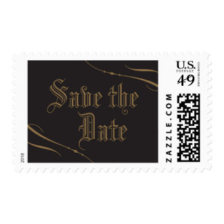 Gothic Save the Date Postage