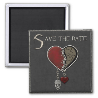 Gothic Save the Date - Square Magnet