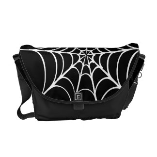 Gothic Scary Spider Web Courier Bag