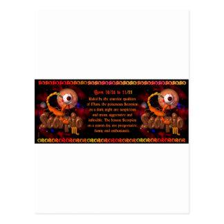 Gothic Scorpio zodiac astrology by Valxart.com Postcard