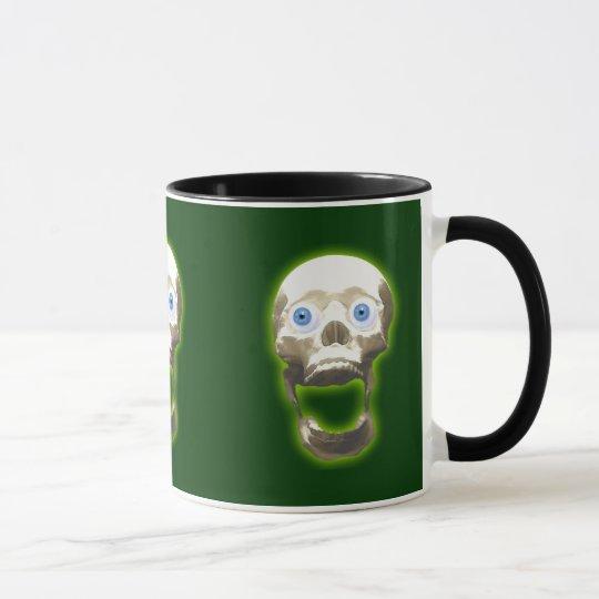 Gothic Screaming Skull Creepy Art Mug